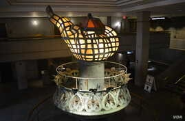 The Statue of Liberty's original torch, constructed in 1876, was taken down in 1984 and is now on display inside the statue's pedestal. The torch is a symbol of enlightenment.