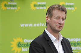 """FILE - French Green lawmaker Yannick Jadot, pictured in 2012, says the European Parliament is in a """"panic"""" that a vote on the proposed Transatlantic Trade and Investment Partnership """"will reveal the clear divisions"""" in the European Parliament. y Euro"""