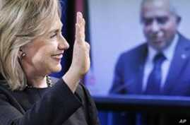 Clinton Announces Aid to Palestinian Authority, Meets with Egyptian Counterpart