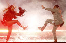"FILE - Beyonce performs ""Freedom"" with Kendrick Lamar at the 2016 BET Awards in Los Angeles, California, US, June 26, 2016."
