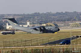A Turkish Air Force A400M tactical transport aircraft is parked at Incirlik airbase in the southern city of Adana, Turkey, July 24, 2015.