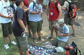 International Boy Scouts from 26 countries at a jamboree at Fort A.P. Hill, Virginia
