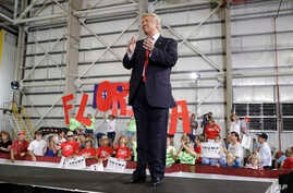 Republican presidential candidate Donald Trump speaks at a rally Tuesday, Sept. 27, 2016.