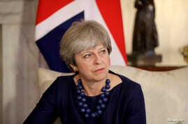 Britain's Prime Minister Theresa May is seen at 10 Downing Street, London, Dec. 5, 2017.