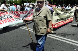 Greeks March Against More Budget Cuts, Privatization