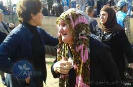 The Assyrian Human Rights Network posted photos on Facebook, saying the Islamic State group released Saturday 37 Assyrians who had been kidnapped. The group said the captives had been returned to Tel Tamer, Syria, Nov. 7, 2015.