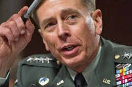 US Gen David Petraeus appears before the US Senate Armed Services Committee during his confirmation hearing to become the head of US and NATO forces in Afghanistan on Capitol Hill June 29, 2010.