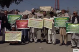 Pakistan's ethnic Pashtuns protest, say they are being rousted in midnight raids, detained and subjected to other harassment in the country's crackdown on extremists following a series of terrorist attacks.