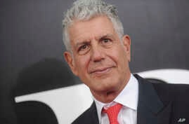 """FILE - Anthony Bourdain at the premiere of """"The Big Short""""."""