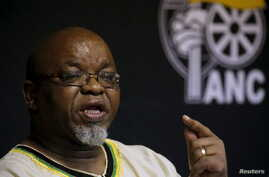 African National Congress (ANC) Secretary General Gwede Mantashe briefs the media at the end of the party's National Executive Committee (NEC) three-day meeting in Pretoria, South Africa, March 20, 2016.