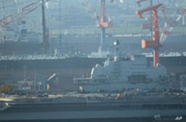 Chinese Aircraft Carrier Begins First Sea Trial