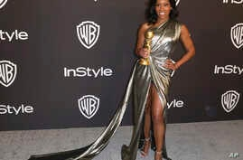 Regina King, winner of the award for best performance by an actress in a supporting role in any motion picture, arrives at the Golden Globes afterparty on Sunday, Jan. 6, 2019, in Beverly Hills, Calif.