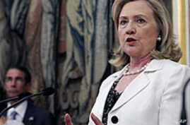 Clinton Dismisses Gadhafi Threats, Tells Him to Go