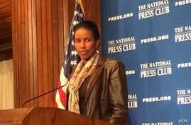 Ayaan Hirsi Ali, author and critic of radical Islam speaks to a luncheon at the National Press Club, April 7, 2015.