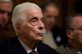 FILE - Former Army Gen. Luciano Benjamin Menendez attends his trial in Cordoba, Argentina, July 22, 2010.