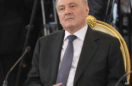 Moldovan President Nicolae Timofti  attends a summit of leaders of the member states of the Collective Security Treaty Organization in the Kremlin in Moscow, Russia, May 15, 2012.
