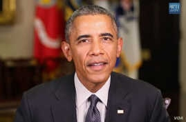 President Barack Obama delivers the weekly address from the White House, Jan. 31, 2015.