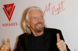 Billionaire Richard Branson at the Virgin Voyages Scarlet Night Celebration at the PlayStation Theater in New york City, Feb. 14, 2019.