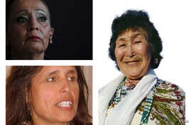 Pictured, clockwise from top, LaDonna Brave Bull Allard (Reuters), Winona LaDuke (Creative Commons) and Rita Pitka-Blumenstein  (Courtesy, The International Council of Thirteen Indigenous Grandmothers)