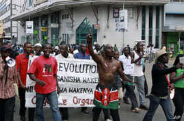 Kenyan Police Fire Tear Gas at Food Protest