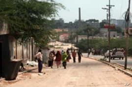 The city's once congested roads are empty of people and cars.  As many as 1.7 million residents have fled nearly daily fighting in Mogadishu since early 2007.