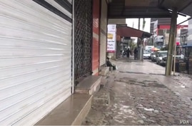 A strike extends into a 9th day in the Iranian Kurdish city of Baneh on April 23, 2018 as Kurds in other regional towns ended their strikes.