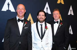 Technical Achievement Award recipients from left: Michael Kirilenko, Mike Branham and Steve Smith are seen at the Academy of Motion Picture Arts and Sciences' Scientific and Technical Awards Presentation at the Beverly Wilshire Hotel in Beverly Hills