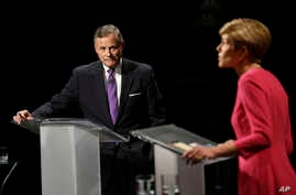 In North Carolina, Republican Senator Richard Burr has sought to capitalize on double-digit Obamacare premium hikes as he tries to retain his seat against Democratic challenger Deborah Ross, who debated Burr on October 13, 2016.