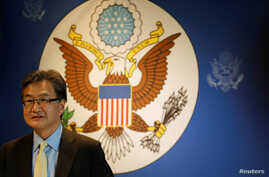 U.S. Special Representative for North Korea Policy Joseph Yun arrives at a meeting with the media in Bangkok, Thailand, Dec. 15, 2017.