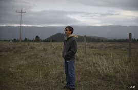 Jim Buterbaugh, a vocal opponent of refugees coming to his state, stands on ranch land belonging to a friend near Clearwater, Mont., on April 12, 2016.