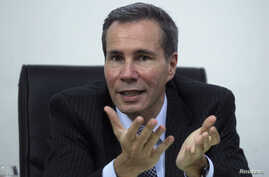 FILE - Argentine prosecutor Alberto Nisman, who is investigating the 1994 car-bomb attack on the Argentine Israelite Mutual Association Jewish community center, is interviewed at his office in Buenos Aires, May 29, 2013.