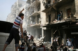 airstrike by the Syrian regime