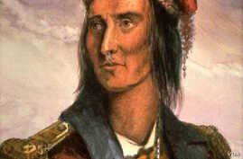 A 20th century adaptation of a portrait of Tecumseh by Benson John Lossing, after a pencil sketch by French trader Pierre Le Dru at Vincennes before 1810.