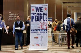 People attend the National Immigrant Integration Conference on Monday, Dec. 12, 2016, in Nashville, Tenn. The gathering of immigration advocates was meant to be a celebration of recent gains. Now it may turn into a strategy session for defending adva