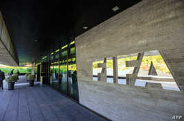 FILE - FIFA (International Football Federation Association) outside the organization's headquarters in Zurich.