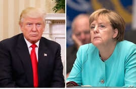 Donald Trump Angela Merkel 1