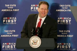 FILE - New Hampshire Governor Chris Sununu speaks in Manchester, N.H., March 22, 2018.