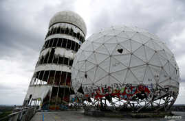 Broken antenna covers of Former National Security Agency (NSA) listening station are seen at the Teufelsberg hill (German for Devil's Mountain) in Berlin, June 30, 2013.