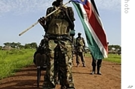 Handout released by the United Nations Mission in Sudan (UNMIS) shows SPLA (Sudan People's Liberation Army) troops redeploying south from Abyei, 02 Jul 2008
