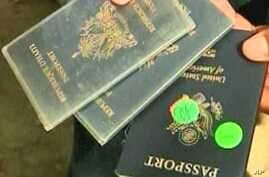 Haitians present US passports in hopes of getting on a military flight to the United States