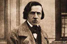 Composer Frederic Chopin in 1849