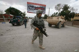 A U.S. soldier is seen in Afghanistan's Paktia province (file photo).