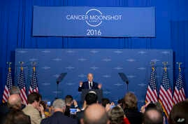 Vice President Joe Biden speaks at the Cancer Moonshot Summit at Howard University in Washington, June 29, 2016. Biden is trying to bolster efforts to cure cancer at this summit focusing on research and innovative trials.