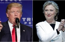 Republican presidential nominee Donald Trump and Democratic presidential nominee Hillary Clinton spent the day Nov. 6, 2016, campaigning, hitting as many states as possible before Tuesday's election.