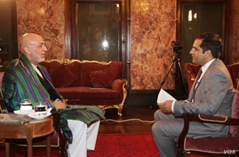 VOA's Ahmad Fawad Lami conducted an exclusive on camera interview with President Karzai on Monday, July 14.