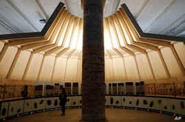 An installation by architect Mario Botta, at the Biennale International Architecture exhibition, in Venice, Italy, May 23, 2018. The 16th edition of the Biennale International Architecture exhibition will open to the public from May 26 to Nov. 25, 20