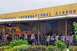 FILE - Roberts International Airport in Monrovia, Liberia.