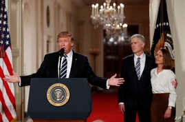President Donald Trump speaks in the East Room of the White House in Washington, Jan. 31, 2017, to announce Judge Neil Gorsuch as his nominee for the Supreme Court.