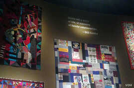 Quilts from Bill Cosby's collection are part of an exhibit at the at the Smithsonian Museum of African Art in Washington, DC.
