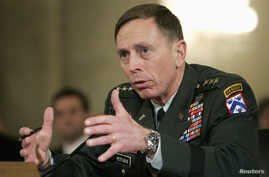 Lieutenant General David Petraeus testifies to the Senate Armed Forces Committee about his nomination to be general and commander of the Multi-National Forces in Iraq at a hearing on Capitol Hill in Washington, Jan. 23, 2007.